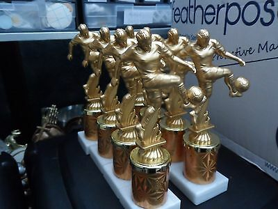 Joblot Of 8 - 8.5 Inch - Gold Football Trophies - Free Engraving