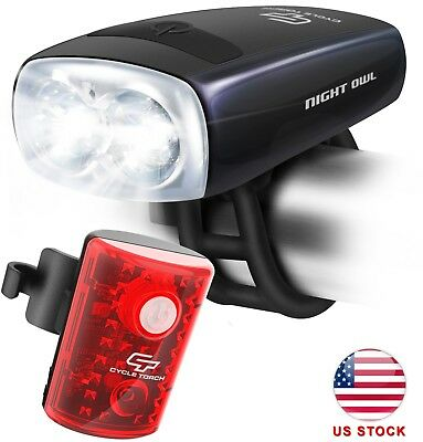 Cycle Torch USB Rechargeable Bicycle Light, Water Resistant Bike LED Headlight