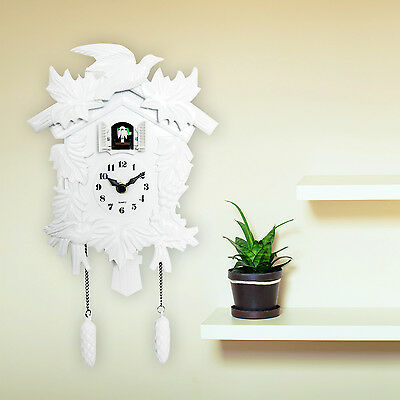 WALPLUS Antique Wall Cuckoo Clock White DIY Home Christmas Gift Presents Idea