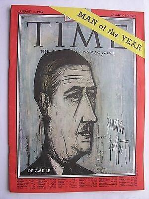 TIME MAGAZINE January 5 1959Charles De Gaulle Man of the Year Salvador Dali