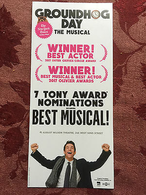 Groundhog Day  ad/flyer Broadway Andy Karl 2017 musical Tony nominations edition