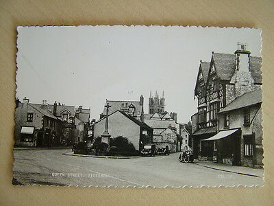 Old R/P Postcard - QUEEN STREET, TIDESWELL. Unused.  Standard size.