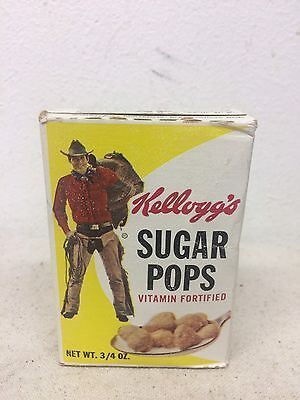 Vintage UNOPENED 1967 Kellogg's Sugar Pops Cereal Sample Box Single Serving