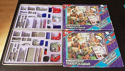 Lot of 2 Vintage Meccano USSR Sets Toy Meccano Universal Large Mix of Pieces