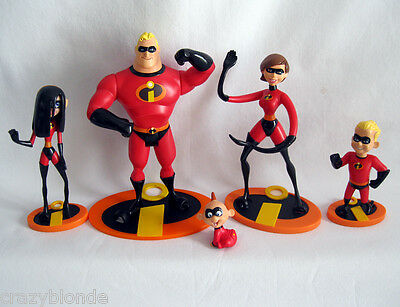 THE INCREDIBLES FAMILY Figures Mr Incredible Elastigirl Violet Dash JACK figures