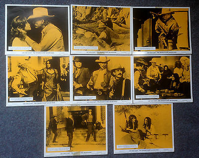 SET OF 8 ORIGINAL LOBBY CARDS THE MAGNIFICENT SEVEN RIDE Lee Van Cleef