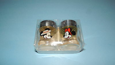 Mickey Mouse And Minnie Mouse  Salt And Pepper Shaker  - Disney