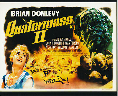 Vera Day In Person Signed Poster Photo - Quatermass II - AG271