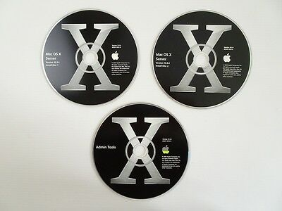 Apple Mac OS X 10.3 Panther Server G3 G4 G5 PPC Unlimited Clients #194
