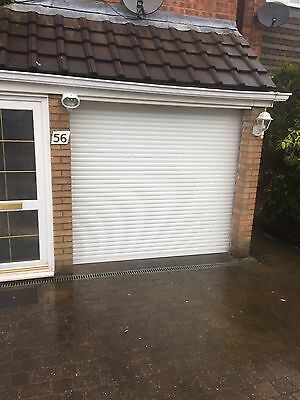 COMPACT Insulated Electric Roller Door in White - FITTING SERVICE AVAILABLE
