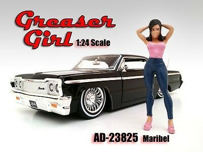 1/24 FIGURINE/Figure-Maribel-Greezerz Girl- 4 your shop/garage-AMERICAN DIORAMA