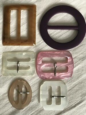 Six Assorted Plastic Buckles