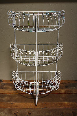 """Metal Wire Shabby Chic Planter Plant Stand Floral Rack Shelf  23"""""""