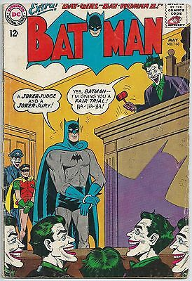 **batman #163**(May 1964 Dc)**classic Joker Judge & Jury Cover**hot**vg**batgirl