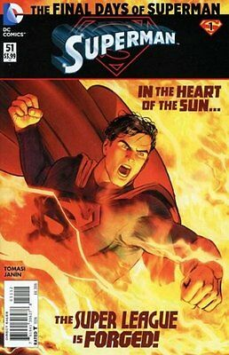 SUPERMAN ISSUE 51 - SECOND 2nd PRINT - DC COMICS NEW 52 FINAL DAYS OF SUPERMAN!