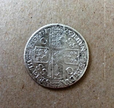 1723 George I Shilling, SSC Coin, VG/F Condition