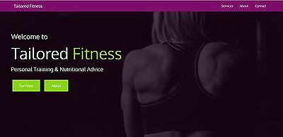Personal Trainer Single Page Website Template with Working Contact Form