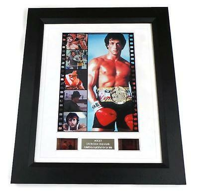 Rocky Framed Film Cell Original 35Mm Film Movie Memorabilia Gifts Stallone