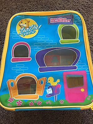 Zhu Zhu Pets Hamster Hangout Collectors Carry Storage Case Holds 9 Pets