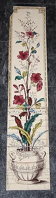 "Vintage Floral Fireplace Tile Set of 5 x 6"" Tiles"