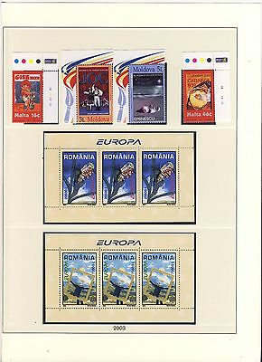 Europa Cept  2003 complete Yearset MNH