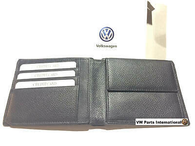 Genuine Volkswagen Mens Leather Wallet VW OEM Gift for Him Birthday Fathers Day