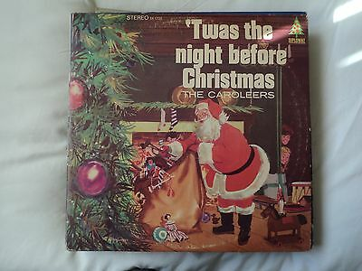 The Caroleers  Twas The Night Before Christmas vinyl LP US import copy EX / VG