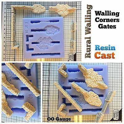 ScaleCast Rural Walling Scenery Mould For Model Railways - Linka Compatible
