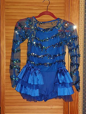 Weissman Dance Costume Childs Romper Size XL Tap Jazz Twirl Sparkling Sequins