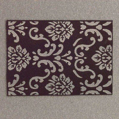 Dolls House Miniature 1:12th Scale Modern Black & White Rug