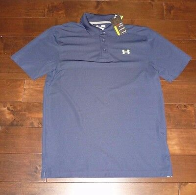 Under Armour men's golf polo in navy blue color size MEDIUM NEW WITH TAG