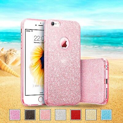 Sparkling Glitter Shock Proof Thin Silicone Case iPhone Samsung Galaxy cover