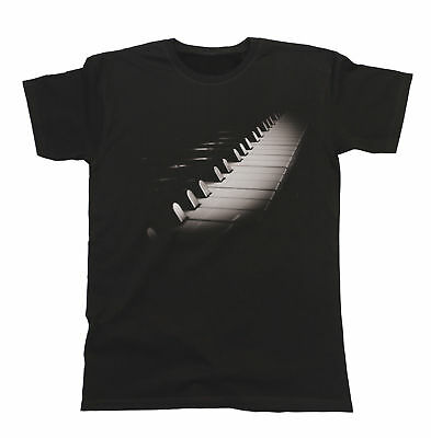 Keyboard Piano Unisex Fit T-Shirt Mens & Ladies Music Instrument Festival Band