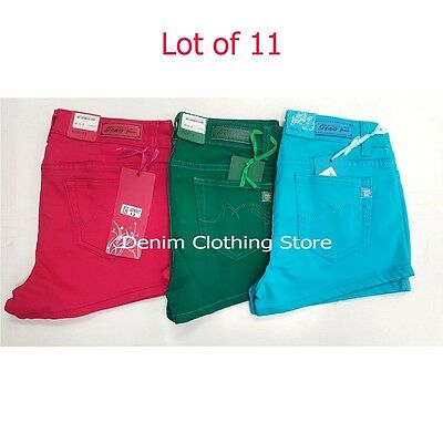 Lot of 11 Geso Jeans Women Colors Shorts Summer Wholesale Mix Sizes Colors 5~13