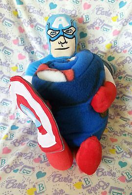 "Marvel Avengers Captain America 10"" Hugger Pillow Plush w/ Fleece Blanket Throw"