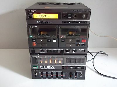 Rare Sony FH-10W Compact Hi-Density Component System Made in Japan