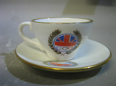 Caverswall England miniature cup and saucer