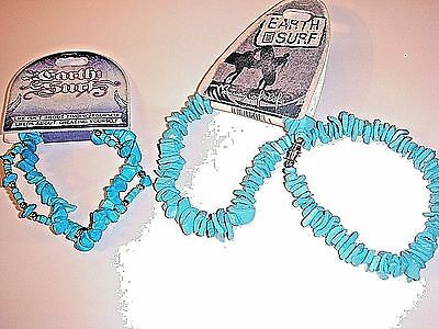 New Pacific Ocean Beaded surf necklace & bracelet, turquoise coral, gift idea