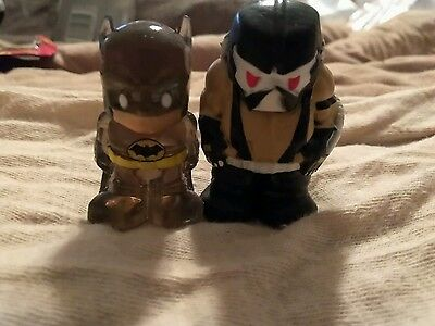 Ooshie pencil topper bane and batman RARE