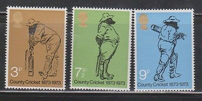 Great Britain Scott # 694-6 Mint Never Hinged  - Centenary Of British Cricket