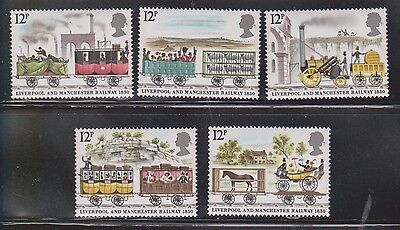 Great Britain Scott # 904-8 Mint Never Hinged -150th Ann Liverpool Manchester RR