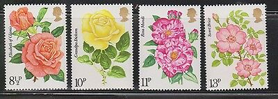 Great Britain Scott # 786-9 Mint Never Hinged - Rose Paintings By Rosenburg
