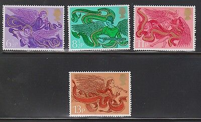 Great Britain Scott # 758-61 Mint Never Hinged - Christmas Angles 1975