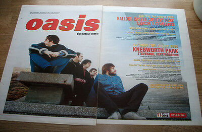 OASIS - UK TOUR DATES - VINTAGE magazine advert POSTER 1996 - 16 X 24