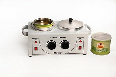 Double Pot Professional Wax Warmer with Wax