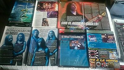 Stratovarius 29 Clippings Magazine From Spanish Collection Lot Very Rare