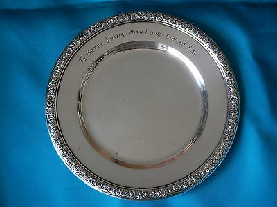 """Vintage Sterling Silver """"Prelude"""" By International Co. Bread & Butter Plate 95g"""