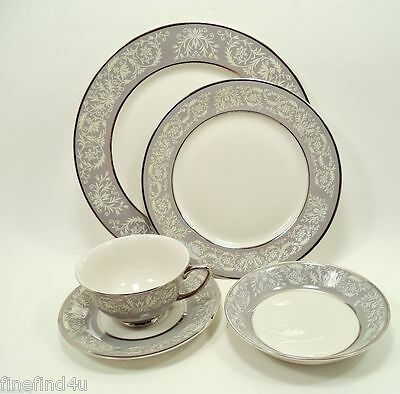 PRELUDE by Vogue Fine China 5 Pc Place Setting(s) Plates Cup Saucer Bowl