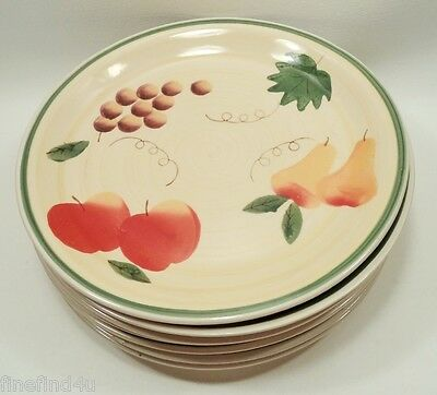 "Tuscan Fruit by Royal Norfolk China 7 - 10 1/2"" Dinner Plates Nice!!! Ships FREE"
