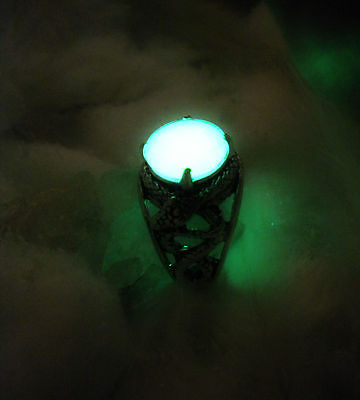 Celtic Snake Knot Ring - Glow in the Dark - Amulet